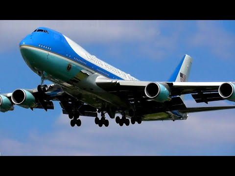 Air Force One arrives and departs London Heathrow Airport, 12-06-21