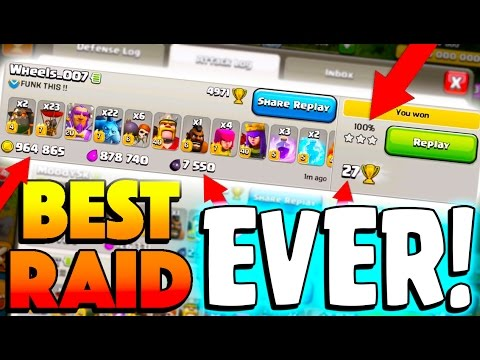 THE PERFECT RAID! Clash of Clans Legends League Attacking!
