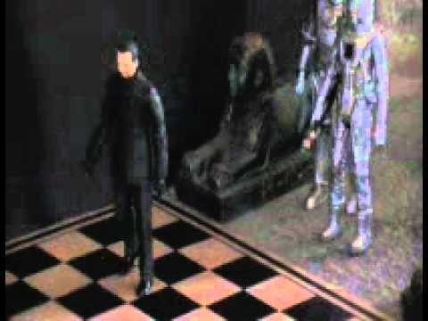 The Master and Cybermen in a scene from  THE FIVE DOCTORS