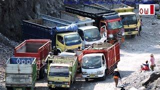 Dump Truck Working In a Quarry
