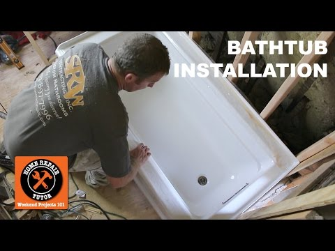 How to Install a Bathtub...Acrylic Kohler Archer (Step-by-Step) - by Home Repair Tutor