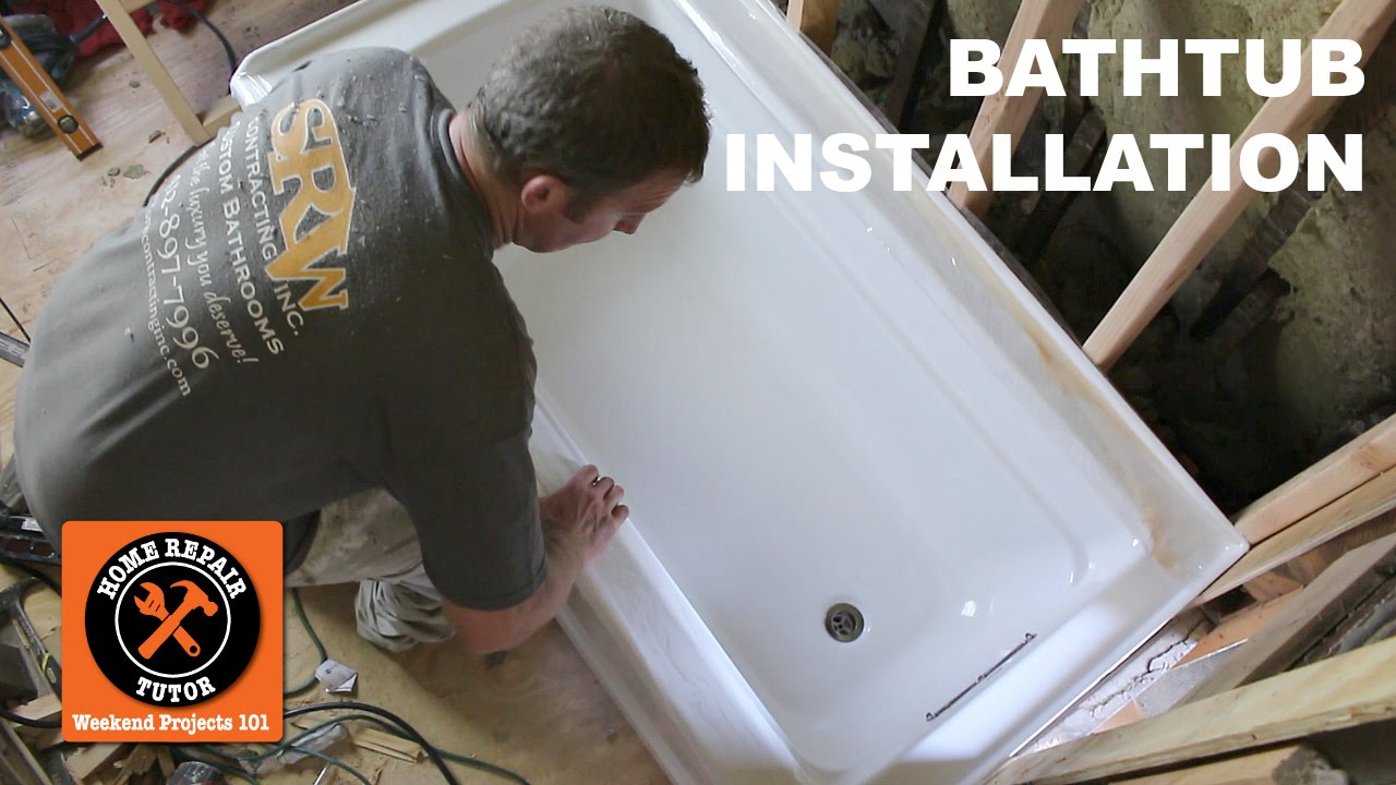 How to Install a Bathtub...Acrylic Kohler Archer (Step-by-Step ...