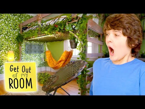 JUNGLE PARADISE Dream Bedroom Makeover | Get Out Of My Room | Universal Kids
