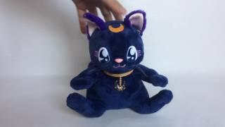 Sailor Moon Luna Nakayoshi Talking Plush Doll Cat 2004 BANDAI