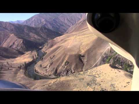 Idaho Backcountry Landing; Mahoney; Bob and Neil; Cessna 206; USFS airstrip