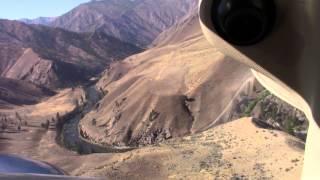 Idaho Backcountry Landing; Mahoney; Bob and Neil; Cessna 206; USFS airstrip