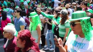 HUGE St Patrick's Day Parade in MEXICO CITY!