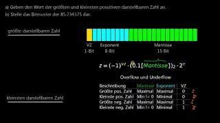 Grundlagen Informatik - 09: Gleitkomma-Darstellung Beispiel (mit Hidden Bit)