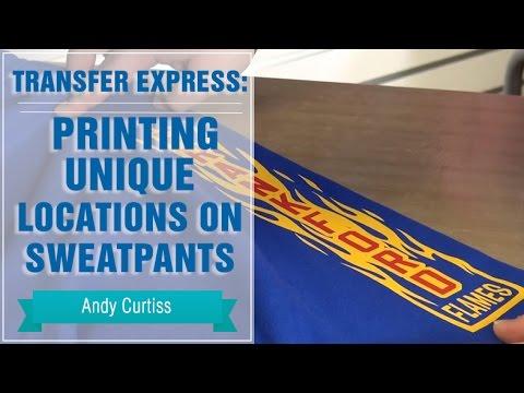 Heat Press Unique Locations on Sweatpants | Transfer Express