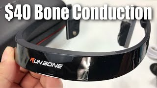 Video Cheap Bluetooth Wireless Bone-Conduction Headphones by Runbone Review download MP3, 3GP, MP4, WEBM, AVI, FLV Agustus 2018