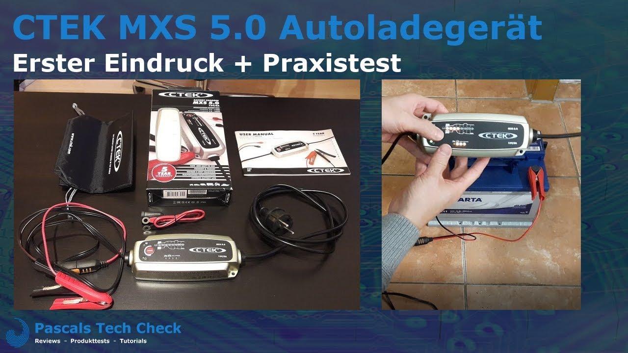 Ctek Mxs 5 0 Vollautomatisches Ladegerat Autoladegerat Erster Eindruck Praxistest Youtube