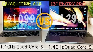 "NEW 2020 Quad-Core MBA vs. Entry Level 13"" MacBook Pro \ the COMPLETE Guide"