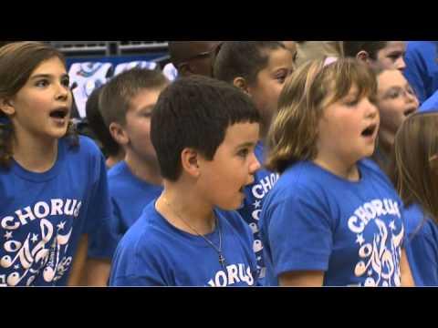 Stone Lakes Elementary Chorus and Dance Group at Magic Game