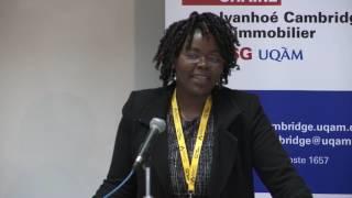 Acfas 2016: Colloque 497 en immobilier - Nadège Dongmo, École des sciences de la gestion (ESG) - UQAM