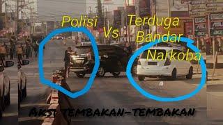 BREAKING News!!! Tembak-tembakan Polisi Vs Terduga Bandar Narkoba di Bandar Jaya Lampung