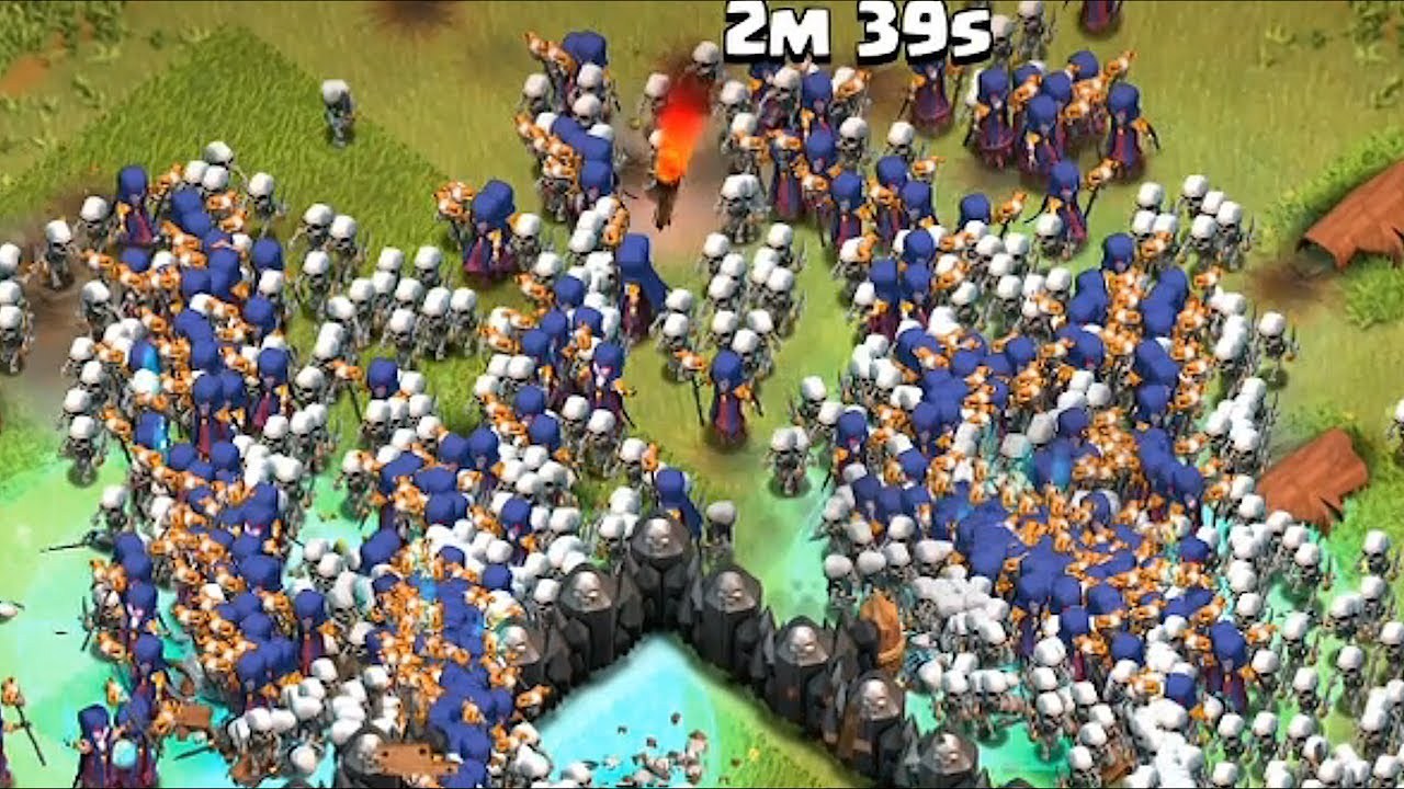 Clash Of Clans  Witches And  Dragons Raid Mass Gameplay Youtube