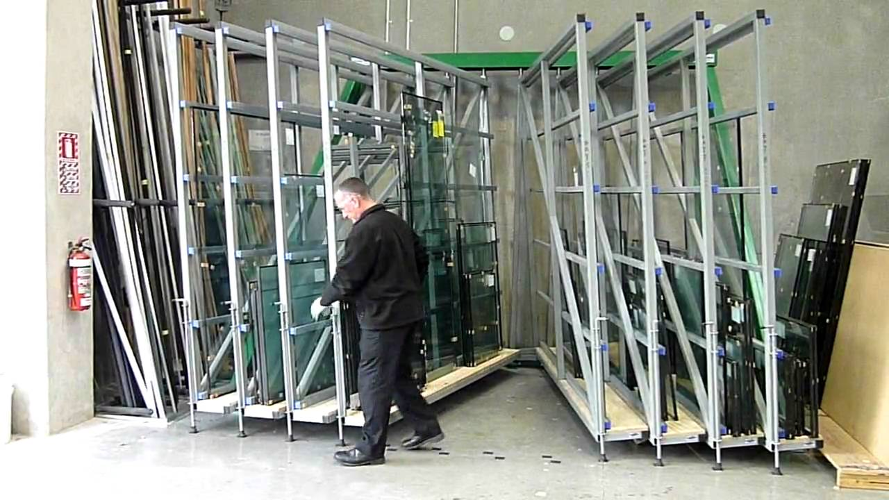 Exceptional The Glass Racking Company Flat Glass Storage Swing Rack   YouTube