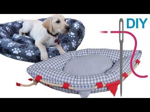 Hundekissen nähen für Anfänger – DIY Hundekörbchen \