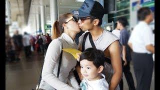 Tin tức Sao Việt_Vợ chồng Khánh Thi - Phan Hiển hôn nhau trước mặt con trai