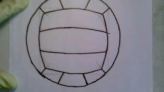 How To Draw A Volleyball Easiest View Como dibujar una pelota de voleibol