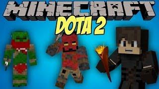 DOTA 2 ITEMS IN MINECRAFT? | Dota 2 Mod Showcase!