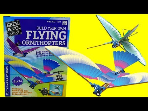 STEM Toys - Thames & Kosmos Build Your Own Flying Ornithopters Birds and Insects