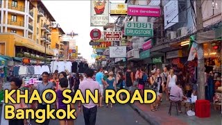 Khao San Road, Bangkok (ถนนข้าวสาร) Day and Nightlife – Citywalks