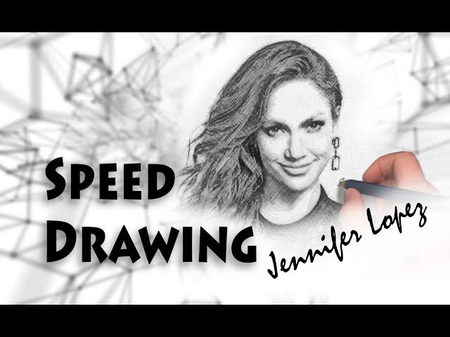 Speed Drawing Jennifer Lopez. How to draw J.Lo
