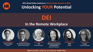 DEI in the Remote Workplace (March 10, 9.10 a.m.)