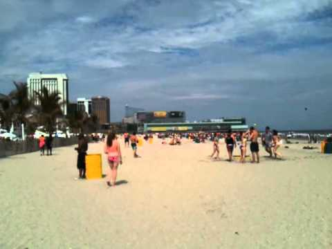 Party on the beach in Atlantic City NJ