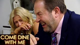 Five complete strangers take turns hosting what they consider to be the ultimate dinner party. guests give them points, and at end of competition...