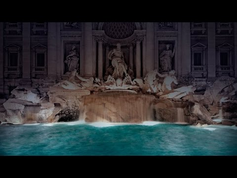 Fendi Legends and Fairy Tales : LIVE 360 Fashion Show at the Trevi Fountain