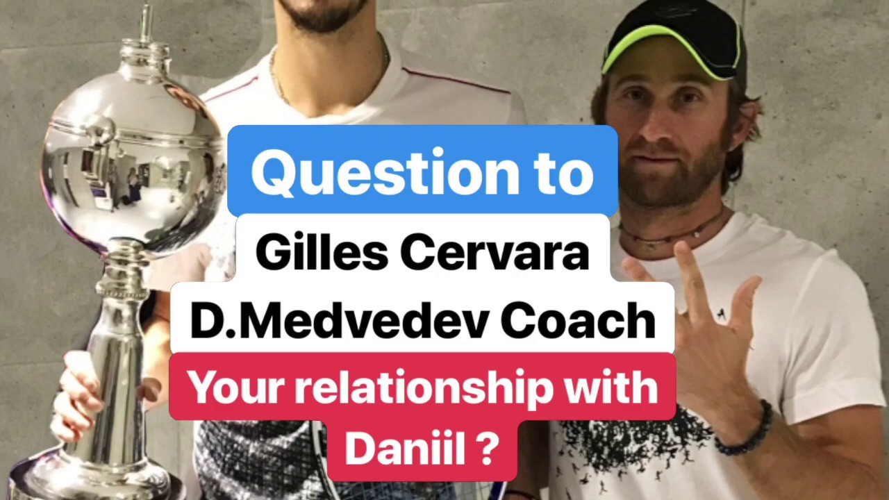 Daniil Medvedev's relationship with his coach - YouTube