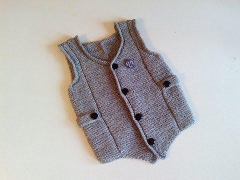 Вязание жилетки спицами для мальчика 1-4 года. Часть1
