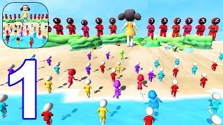 Sea Race 3D - Fun Squid Run 3D - Gameplay Walkthrough Part 1 Level 1 - 8 All Levels (Android, iOS) screenshot 5