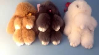 Меховой брелок кролик обзор