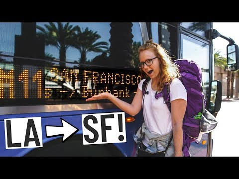 BUS RIDE ACROSS CALIFORNIA! (Los Angeles 🚌San Francisco)