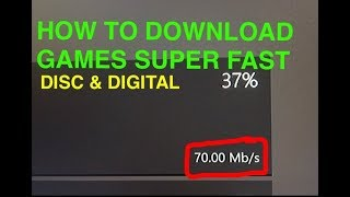 """HOW TO INSTALL GAMES FASTER ON XBOX ONE"" - Disc & Digital *2017*"