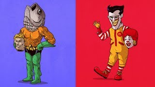 30+ Famous Characters Unmasked With A Funny Twist
