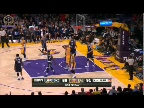 Lakers bench regains lead and Coach Byron Scott panics to sub in Kobe