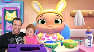 Adley App Reviews | Doc McStuffins Baby Nursery | pretend play morning routine with a baby