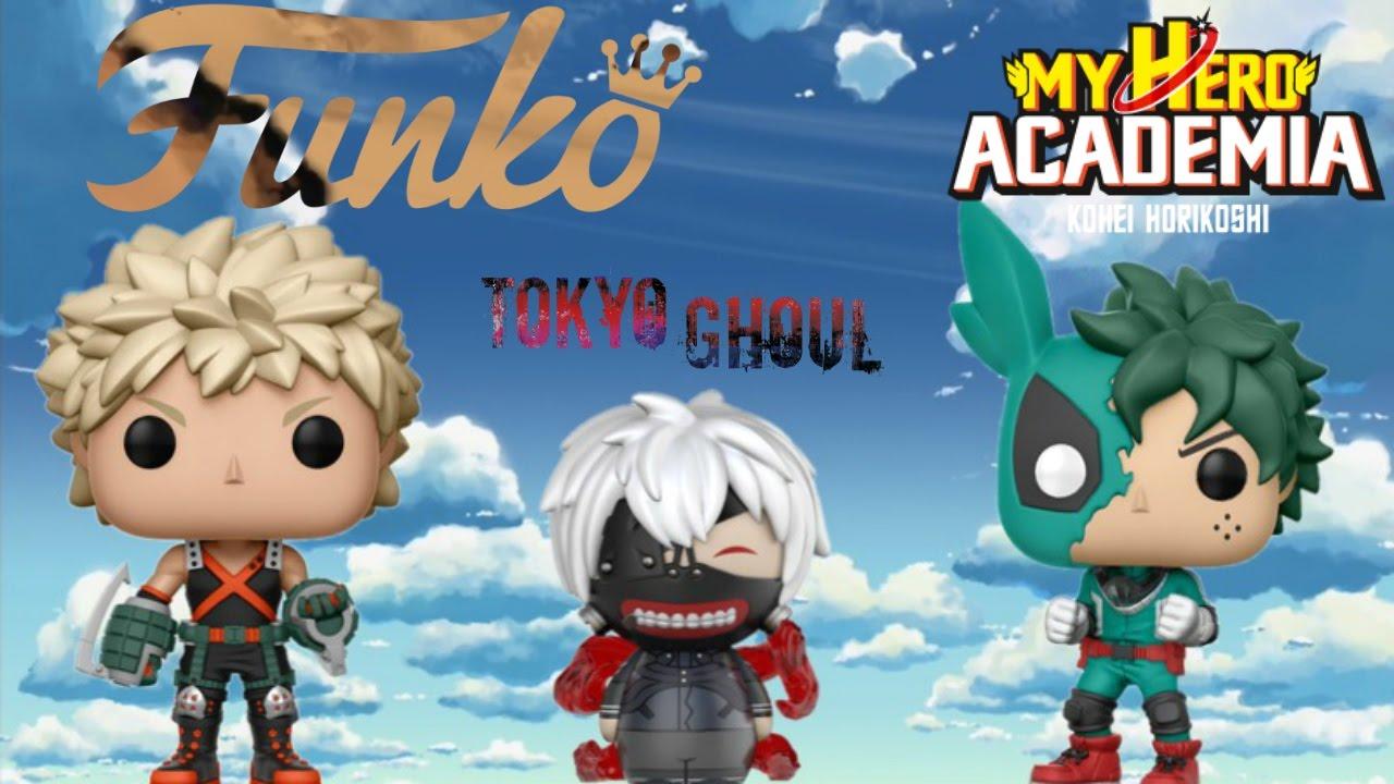 funko anime  new  - my hero academia  u0026 tokyo ghoul  coming soon