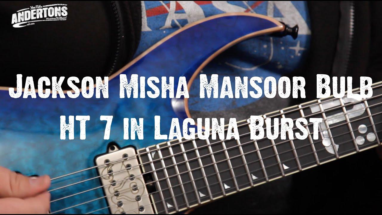 top shelf guitars jackson misha mansoor bulb ht 7 in laguna burst youtube. Black Bedroom Furniture Sets. Home Design Ideas