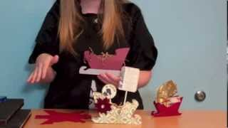 Create 3 Sizes Of Paper Sleighs