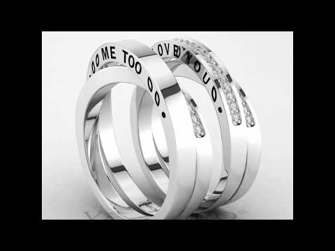 Hidden Message Sterling Silver Couple Rings