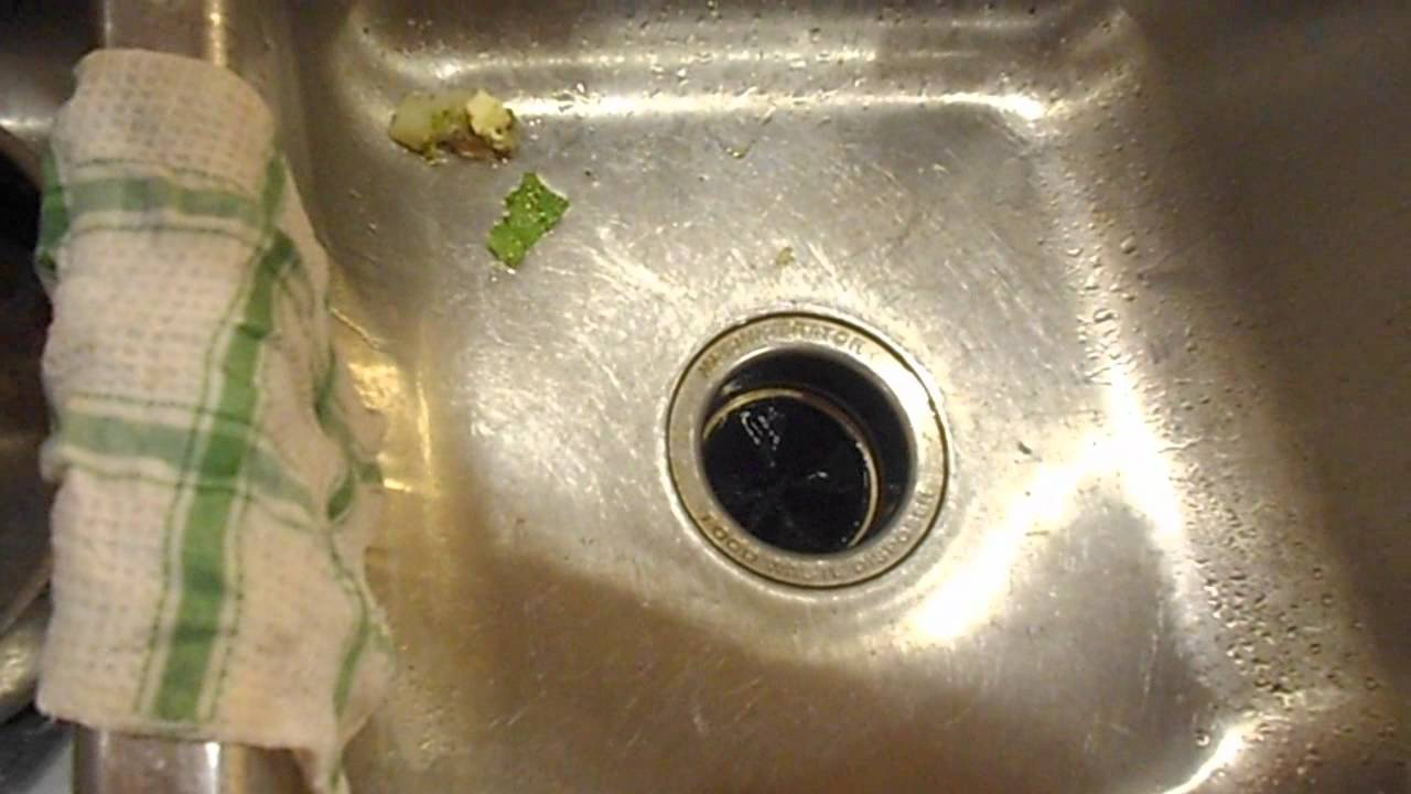 Clogged Sink How To Fix A Garbage Disposal Disposer YouTube - My kitchen sink is clogged