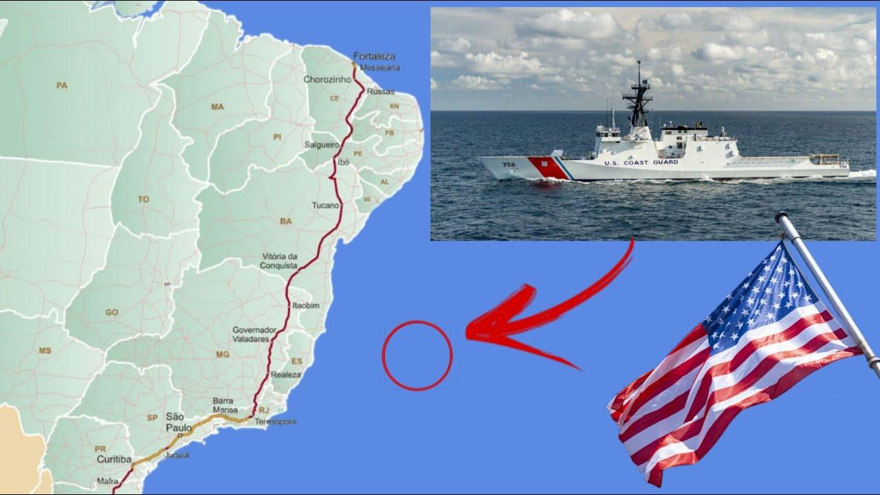 EUA envia navio de patrulha para a costa do Brasil sob o argumento de combater pesca ilegal
