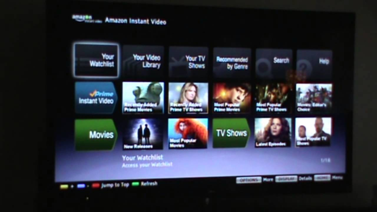 How to watch amazon prime movies on my samsung smart tv