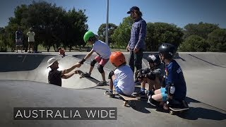 A town's mission to get its local skateboarders onto the global stage