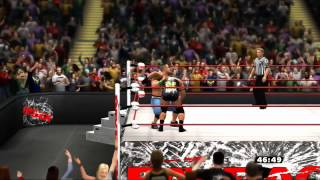 WWE Payback John Cena vs Ryback 3 Stages of Hell Lumberjack Match Tables Match